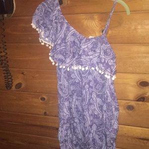 One shoulder sun dress